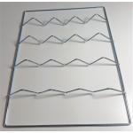 Rošt vlnkový pro přenosné udírny
