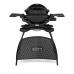 Weber Q 1200 se stojanem černý (štít a rošt)