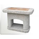 Stolek boční betonový ATLAS hnědý