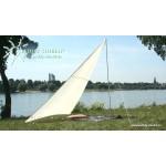 Kempingová sluneční plachta 300x300x250 cm písková